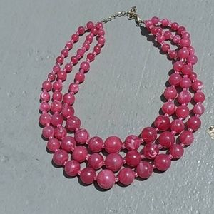 Fashion beaded  necklaces 3 strands